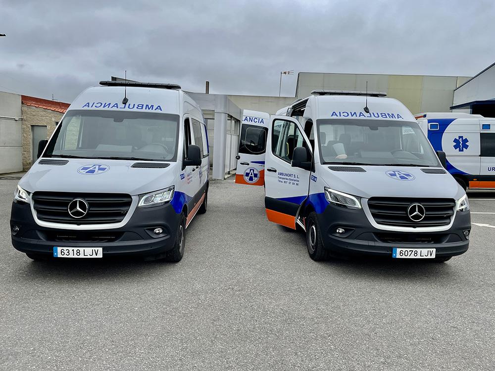Servicio de ambulancias en hospitales y clínicas